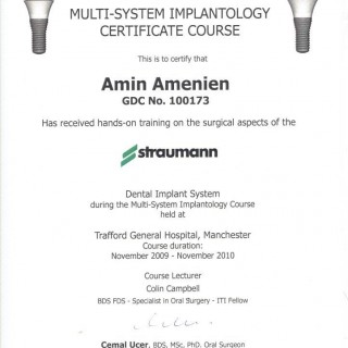 15 Dr Amin Amenien Strumann Dental implant system  surgery 2010