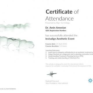 2 Dr Amin Amenien Invisalign aesthetic event 2016