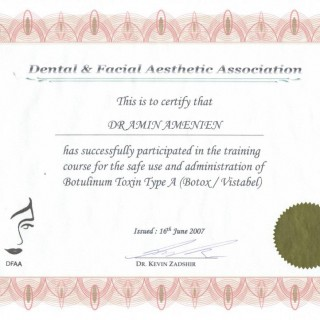 3 Dr Amin Amenien Botox facial aesthetic 2007