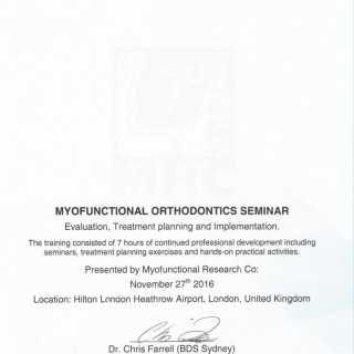 3 Dr Amin Amenien Myofunctional orthodontic seminar 2016