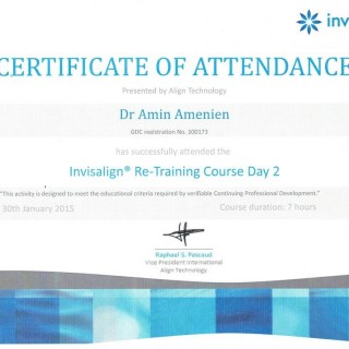 5 Dr Amin Amenien invisalign retraining 2015