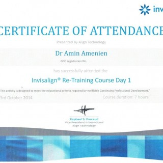 6 Dr Amin Amenien invisalign retraining 2014